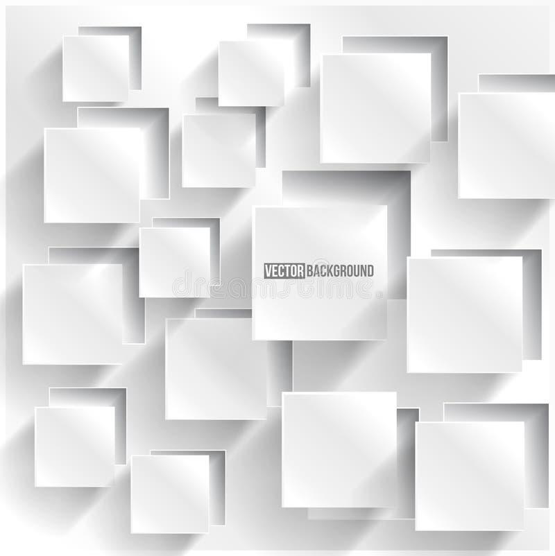 Vector abstract vierkant als achtergrond. Het Ontwerp van het Web royalty-vrije illustratie