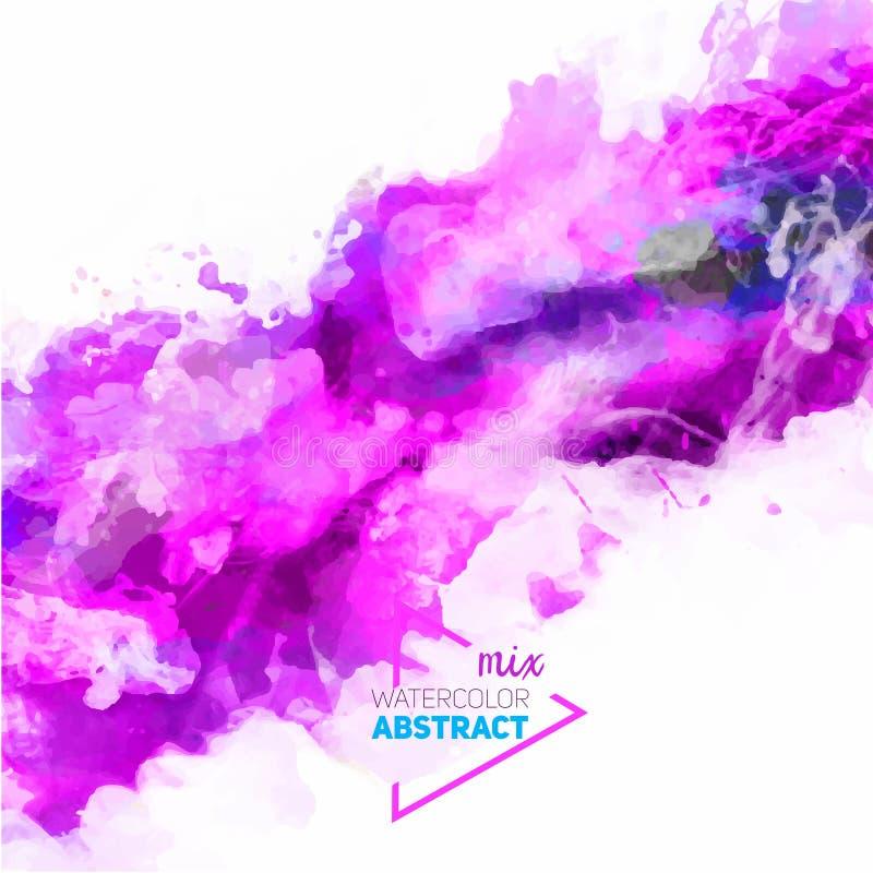 Vector abstract waterverfpalet van roze kleuren vector illustratie