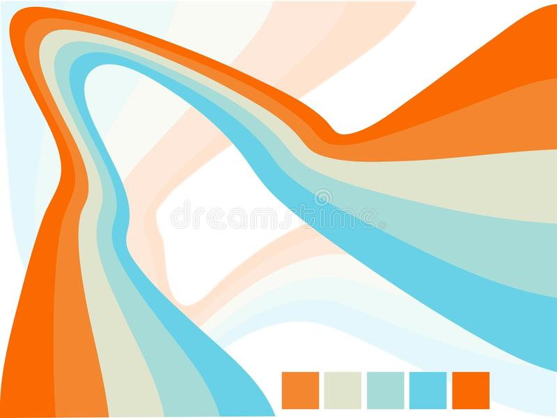 Vector abstract wavy background design royalty free illustration