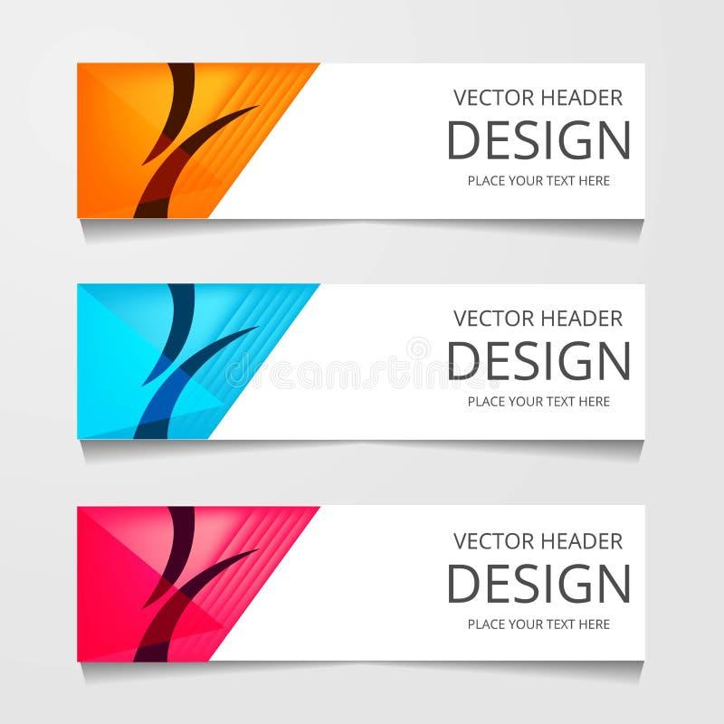 Vector abstract web banner design template. Collection of web banner template. Abstract geometric web design banner template. stock illustration