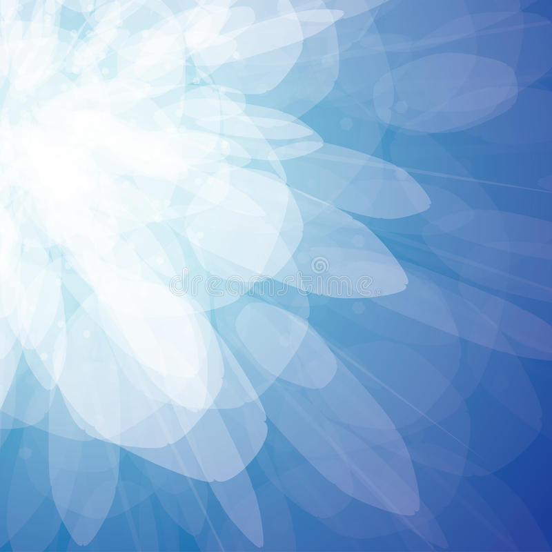 Vector abstracte achtergrond - blauwe vonken royalty-vrije illustratie