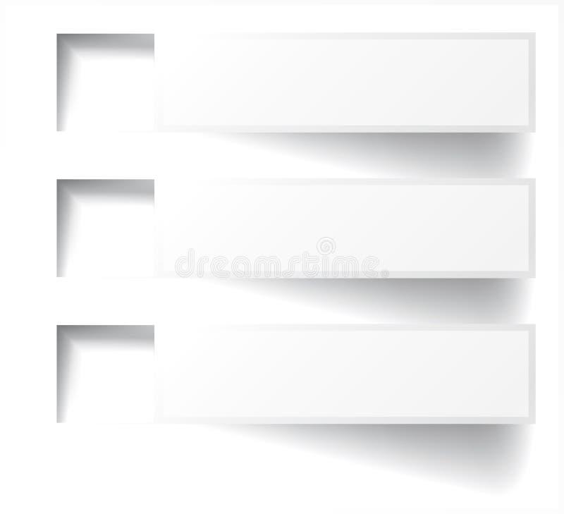 Vector abstracte achtergrond. De banner van Infographics royalty-vrije stock afbeelding