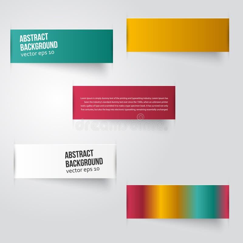 Vector abstracte achtergrond. Etiketkleur vector illustratie