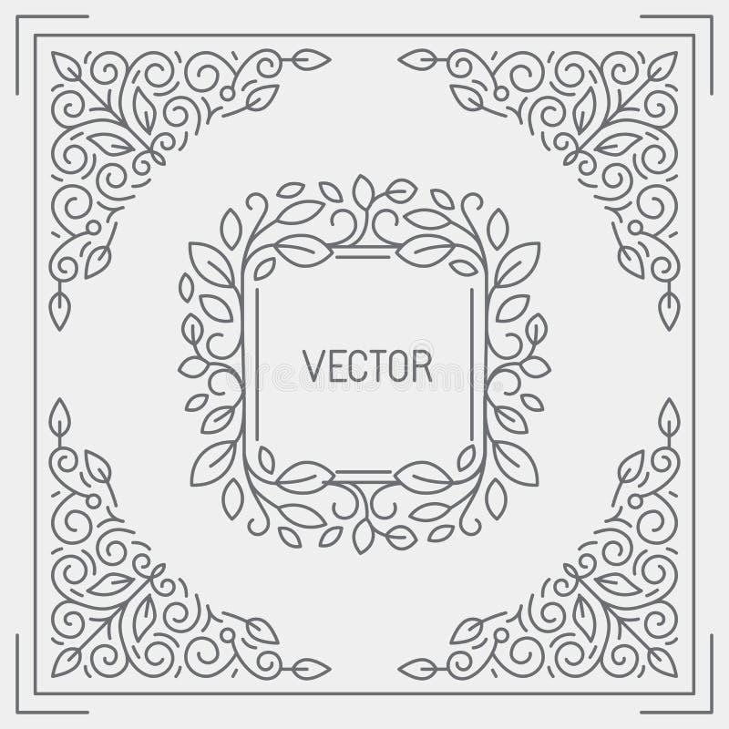 Vector abstracte achtergrond, groetkaart en templa van het embleemontwerp stock illustratie