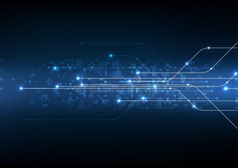 Vector abstracte achtergrond mede technologie elektronische illustratie royalty-vrije illustratie