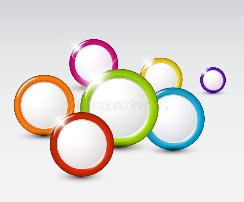 Vector abstracte achtergrond met cirkels vector illustratie