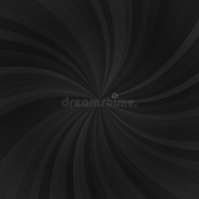 Vector abstracte achtergrond met donkere stralen vector illustratie