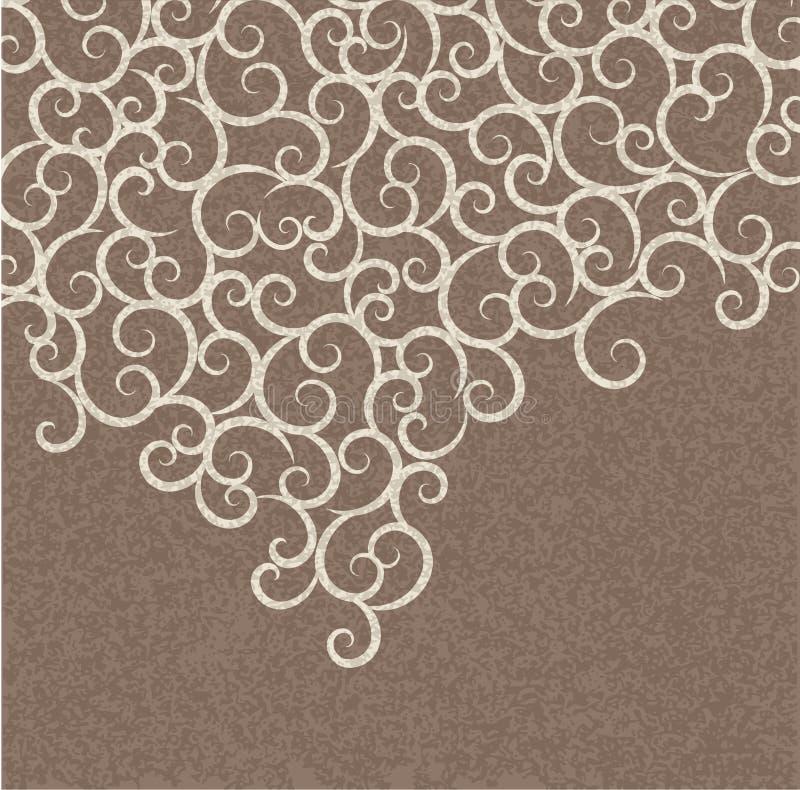 Vector abstracte achtergrond met een patroon stock illustratie
