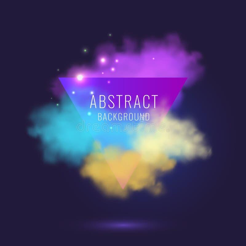 Vector abstracte achtergrond met gekleurde wolken royalty-vrije illustratie