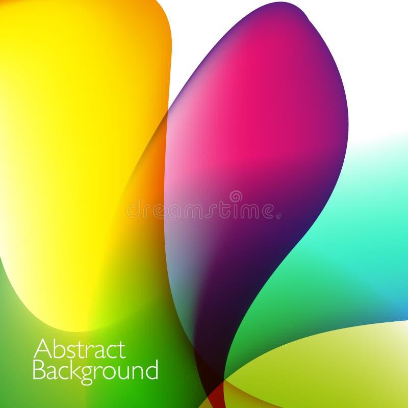 Vector abstracte achtergrond met golven stock illustratie
