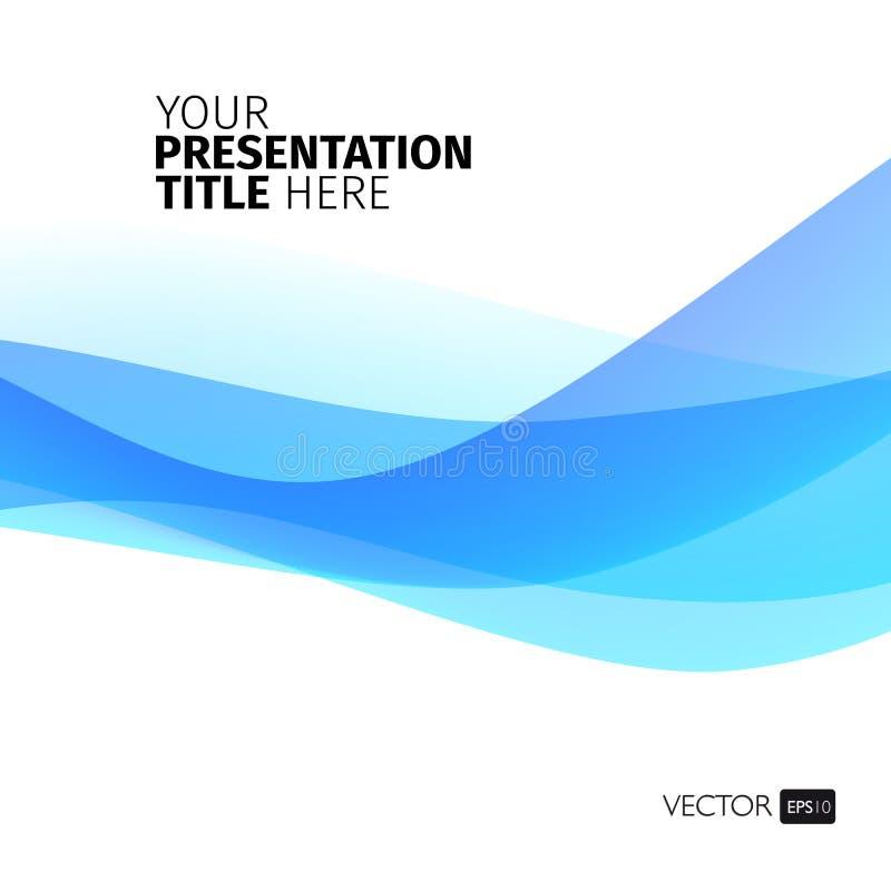 Vector abstracte achtergrond met golven vector illustratie