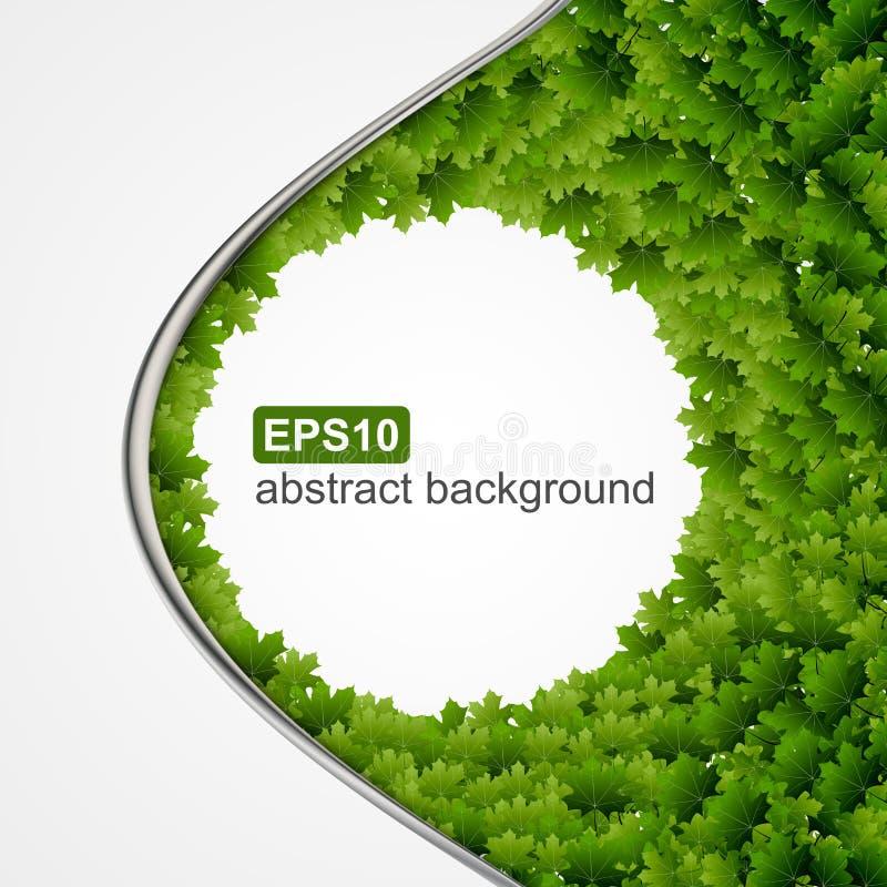 Vector abstracte achtergrond met groene bladeren stock illustratie
