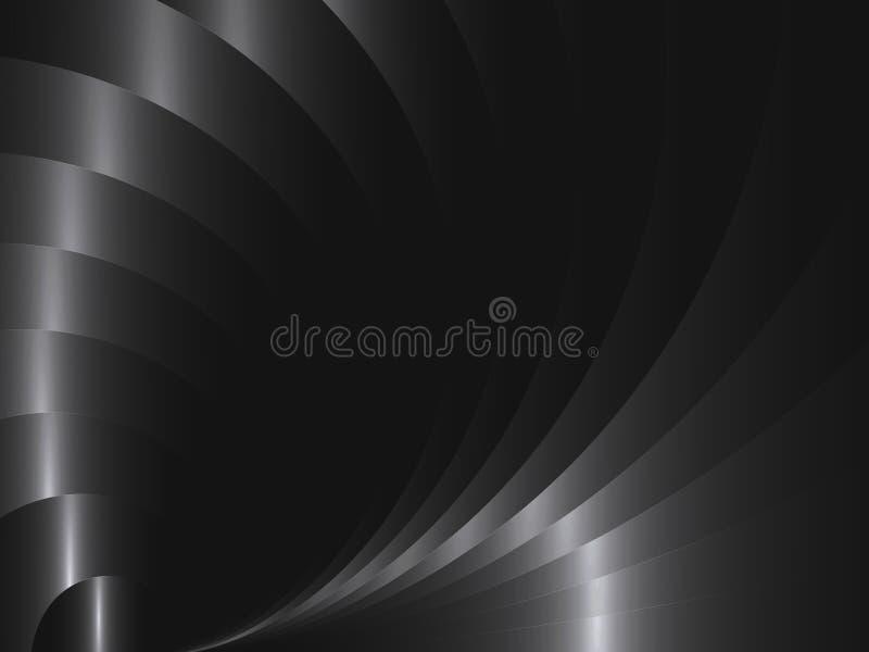 Vector abstracte achtergrond met metaalgolven vector illustratie