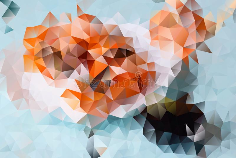 Vector abstracte achtergrond van driehoeken stock illustratie