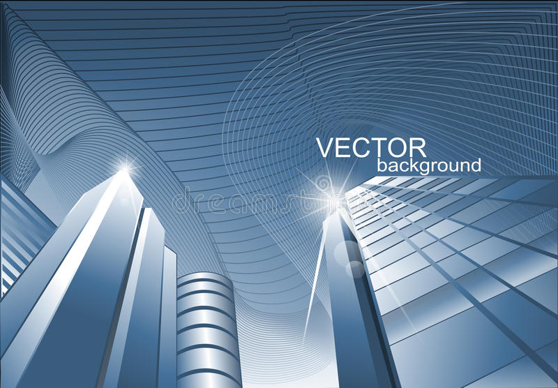 Vector abstracte achtergrond van het gebouw royalty-vrije illustratie