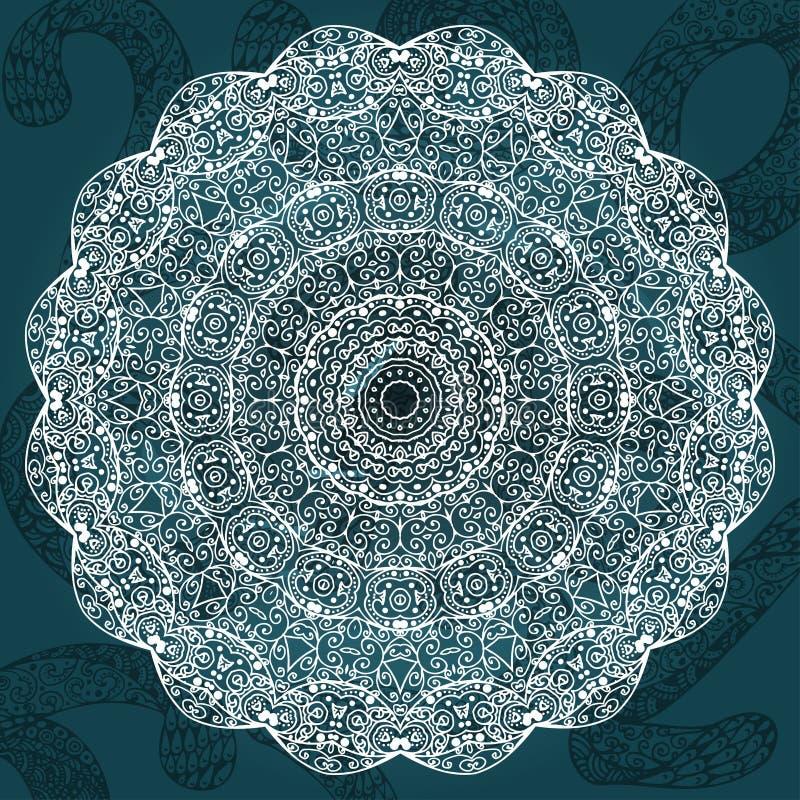 Vector abstracte achtergronden met mandalaelement Decoratief ontwerp Uitstekende geometrische texturen Achtergrond voor kaart, We stock illustratie