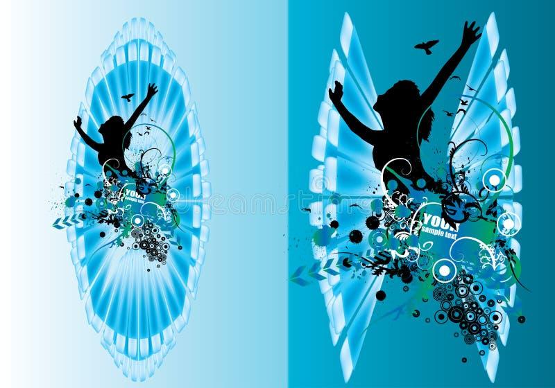 Vector abstracte affiche royalty-vrije illustratie