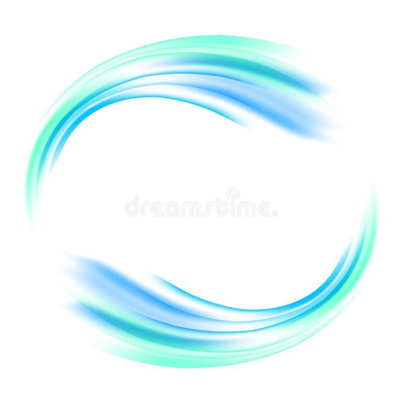 Vector abstracte blauwe cirkel Banner, vlieger of Embleemontwerpmalplaatje royalty-vrije illustratie