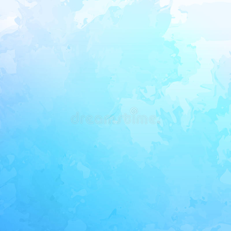 Vector abstracte blauwe waterverfachtergrond stock illustratie