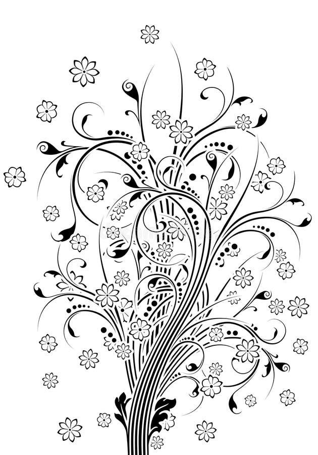 Vector Abstracte Bloemen stock illustratie