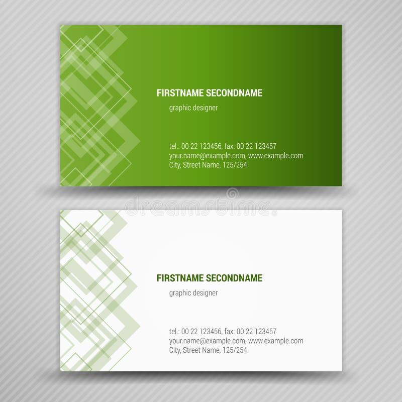 Vector abstracte creatieve adreskaartjes stock illustratie