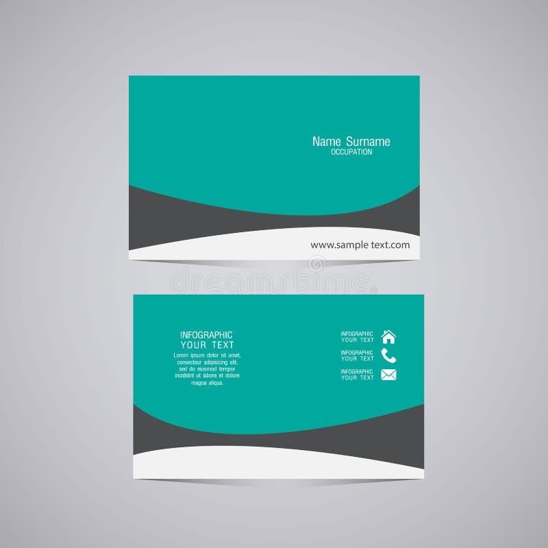 Vector abstracte creatieve adreskaartjes royalty-vrije illustratie