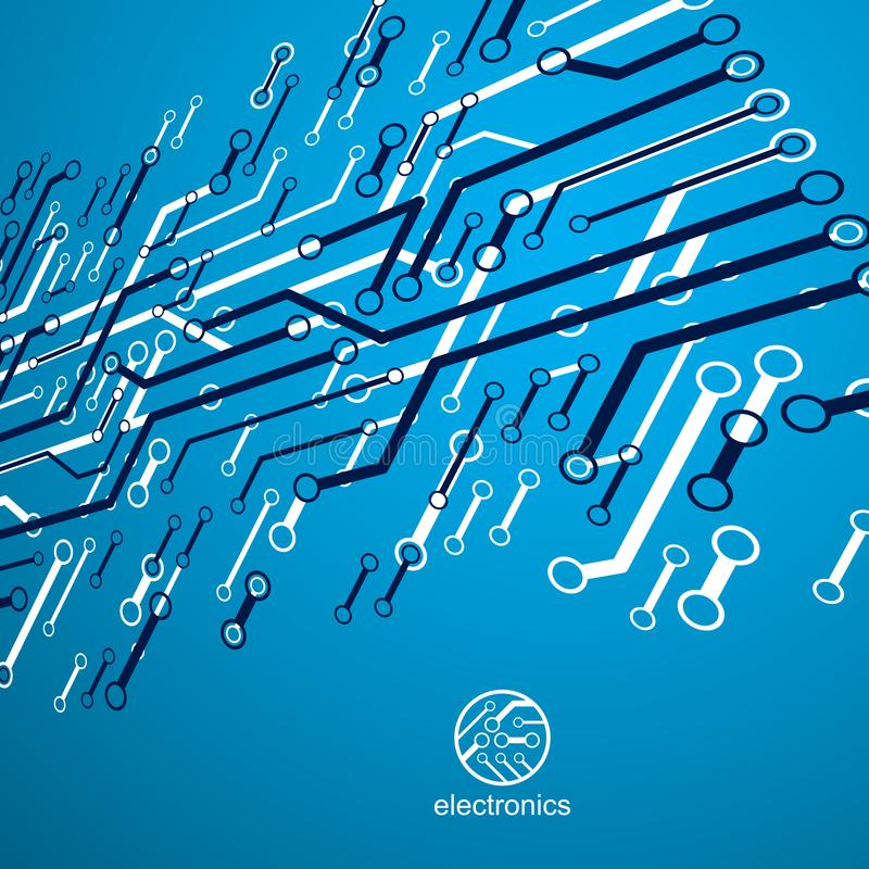 Vector abstracte de raadsillustratie van de computerkring, technologie vector illustratie