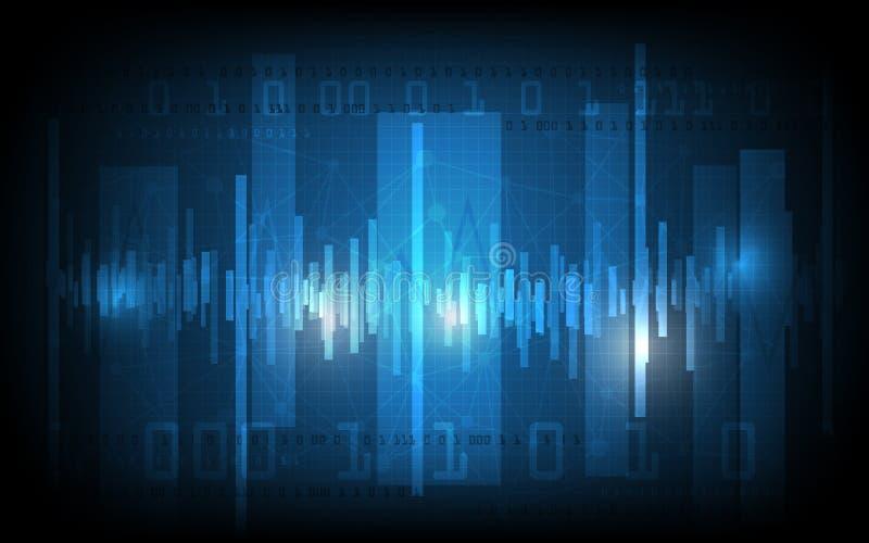 Vector abstracte digitaal en hallo technologie-patroonachtergrond stock afbeelding