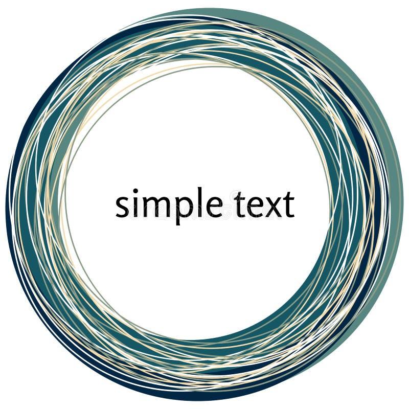 Vector abstracte donkerblauwe die wervelingsvorm op witte achtergrond wordt geïsoleerd stock illustratie