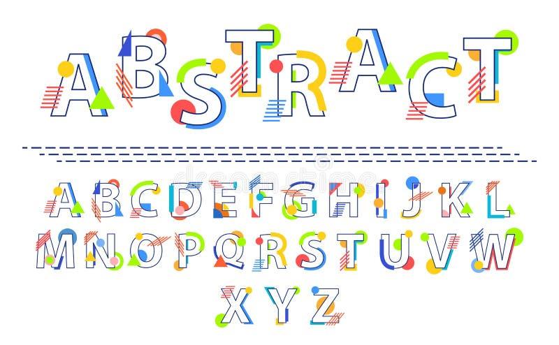 Vector Abstracte Doopvont stock illustratie