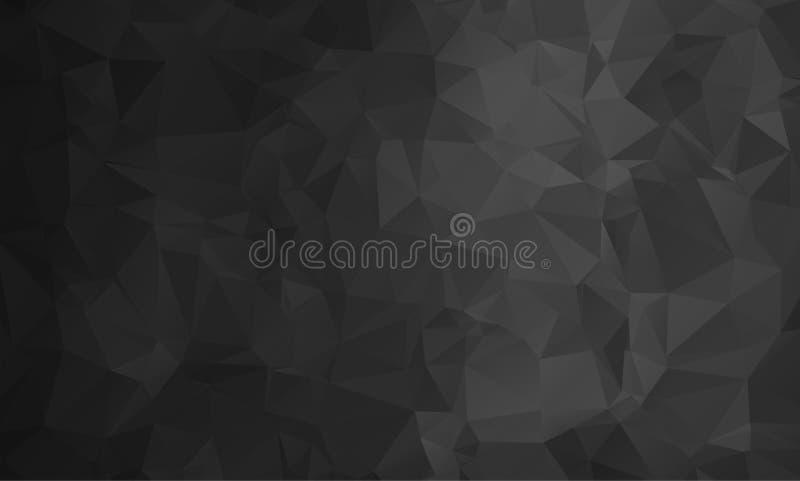 Vector abstracte driehoekige bleke kleurloze achtergrond vector illustratie