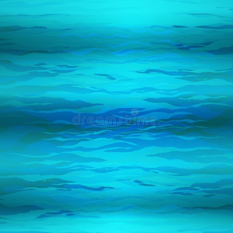 Vector Abstracte driehoeks onderwaterachtergrond, abstracte textuur, blauw water vector illustratie