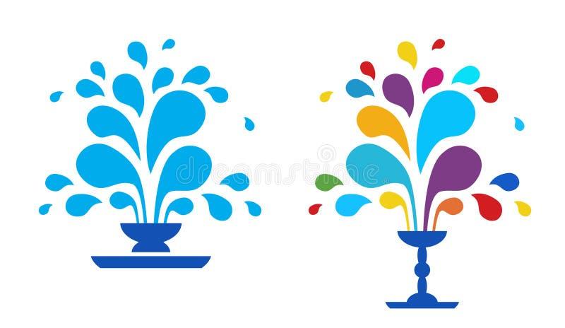Vector abstracte fontein royalty-vrije illustratie