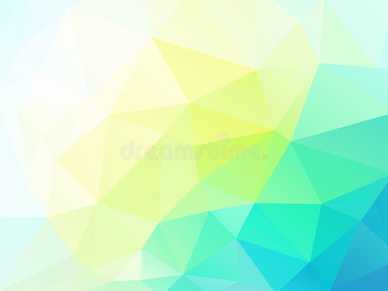 Vector abstracte geelgroene driehoekenachtergrond royalty-vrije illustratie