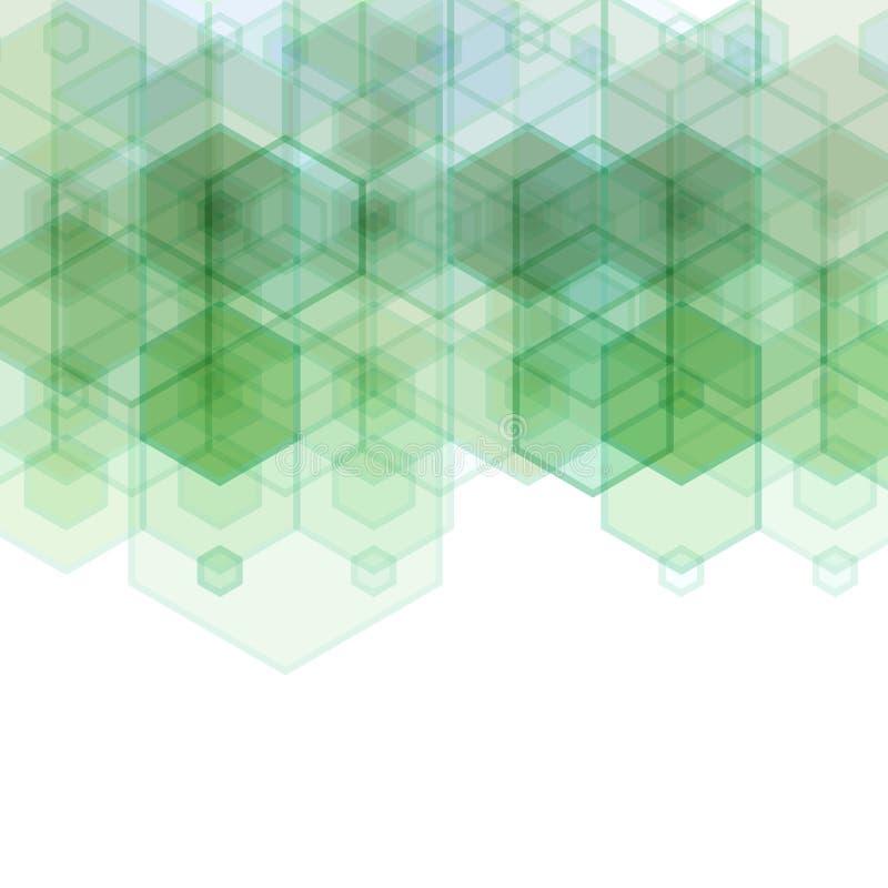 Vector Abstracte geometrische achtergrond Het ontwerp van de malplaatjebrochure royalty-vrije illustratie