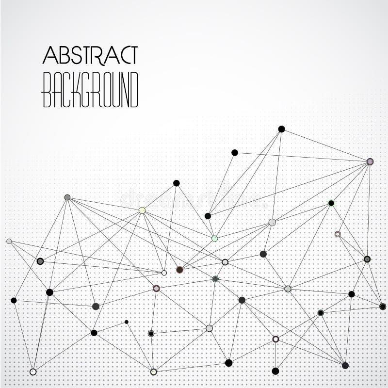 Vector abstracte geometrische achtergrond met driehoek royalty-vrije illustratie