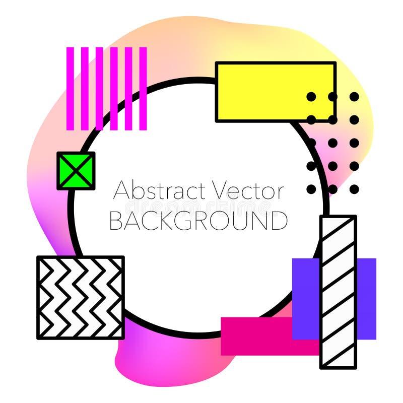 Vector Abstracte geometrische achtergrond Modern en modieus stock foto