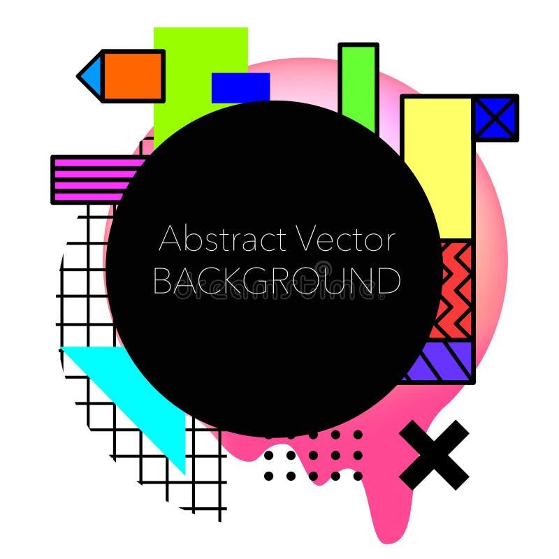 Vector Abstracte geometrische achtergrond Modern en modieus stock fotografie
