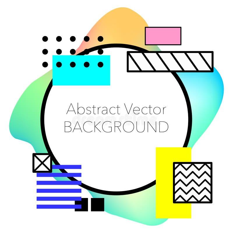 Vector Abstracte geometrische achtergrond Moderne en modieuze abstracte ontwerpaffiche royalty-vrije stock afbeelding