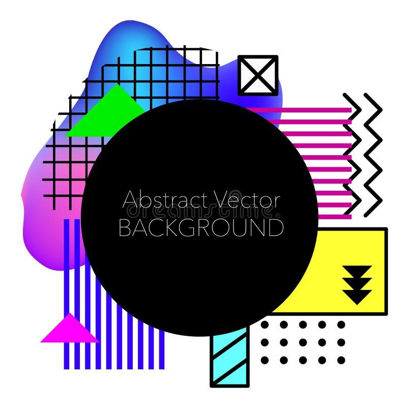 Vector Abstracte geometrische achtergrond Moderne en modieuze abstracte ontwerpaffiche royalty-vrije stock fotografie