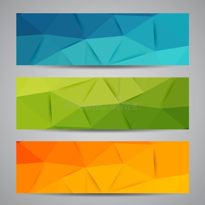 Vector abstracte geometrische banner met driehoek vector illustratie