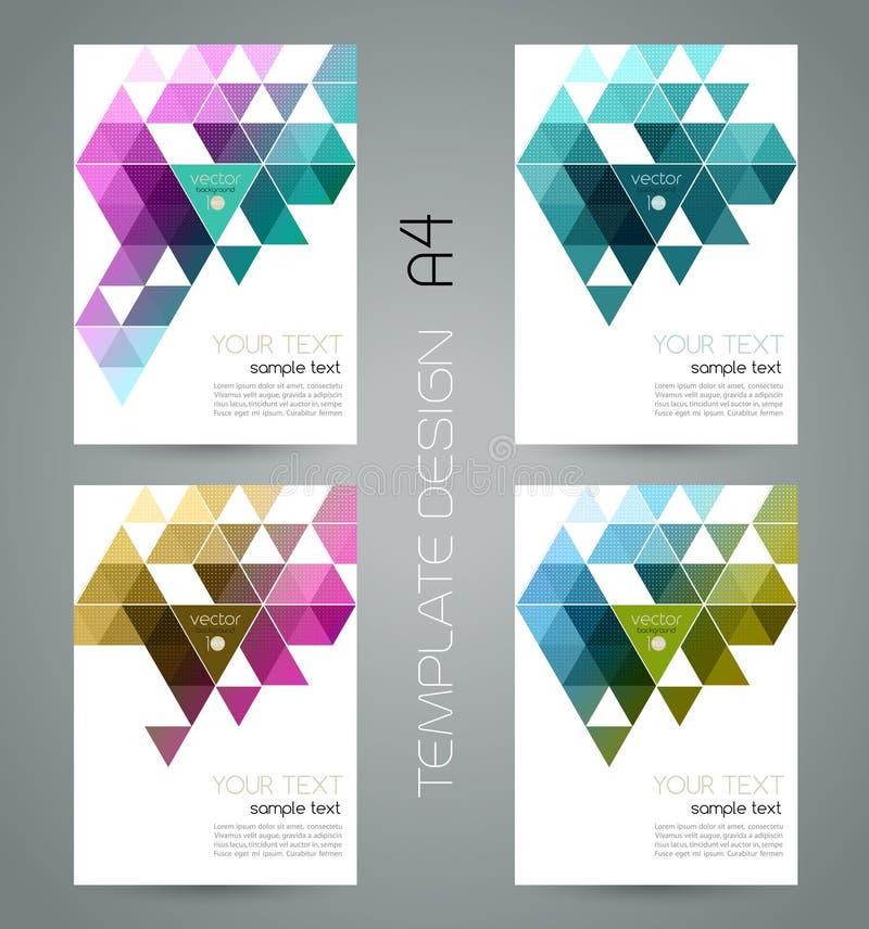 Vector abstracte geometrische banner met driehoek stock illustratie