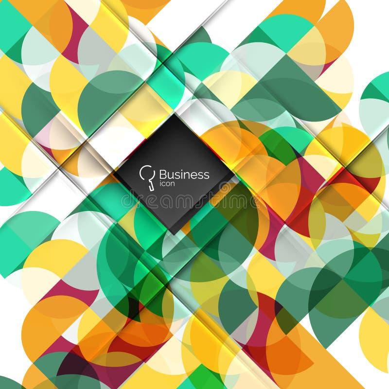 Vector abstracte geometrische samenstelling royalty-vrije illustratie