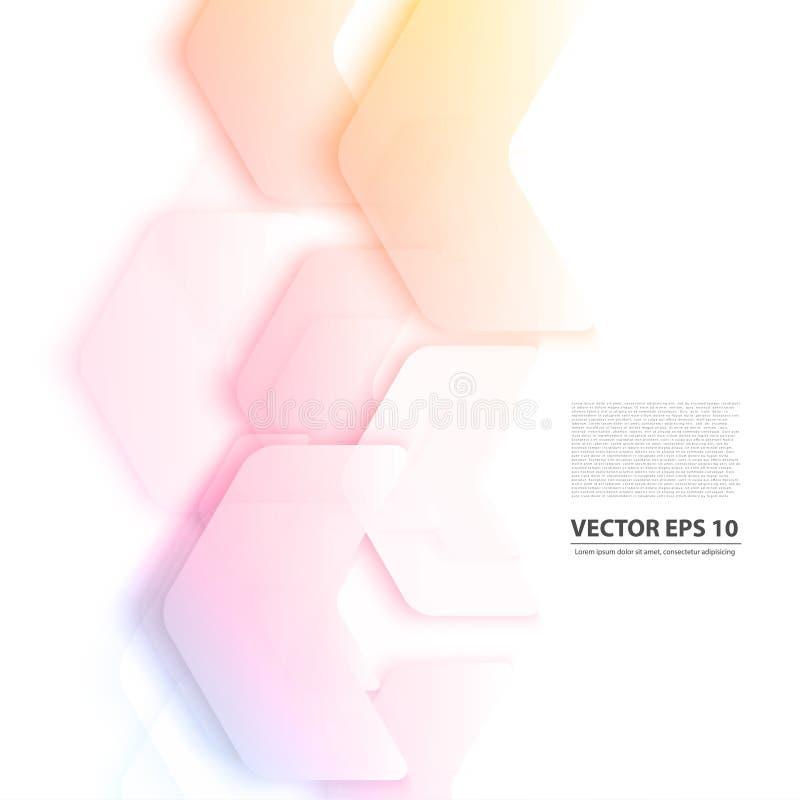 Vector Abstracte geometrische vorm van grijs stock illustratie