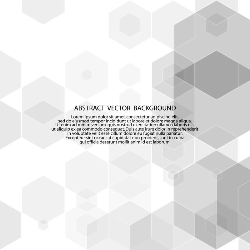 Vector Abstracte geometrische vorm van grijze kubussen Witte vierkanten Eps 10 vector illustratie