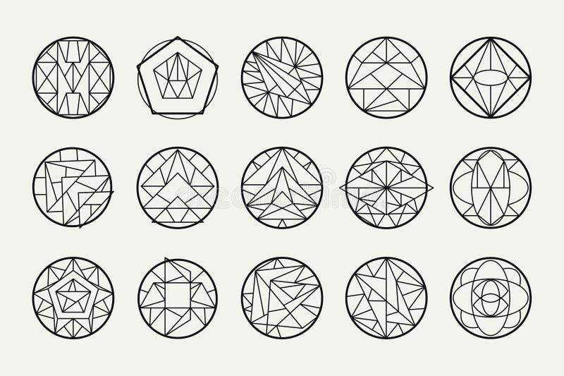 Vector abstracte geometrische vormen royalty-vrije illustratie