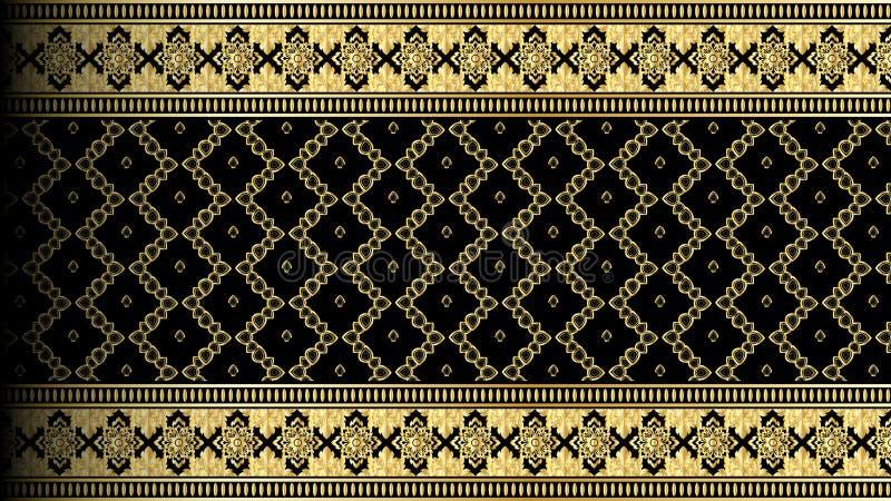 Vector abstracte gouden exotische Thaise naadloze backgro van de patroongrens vector illustratie