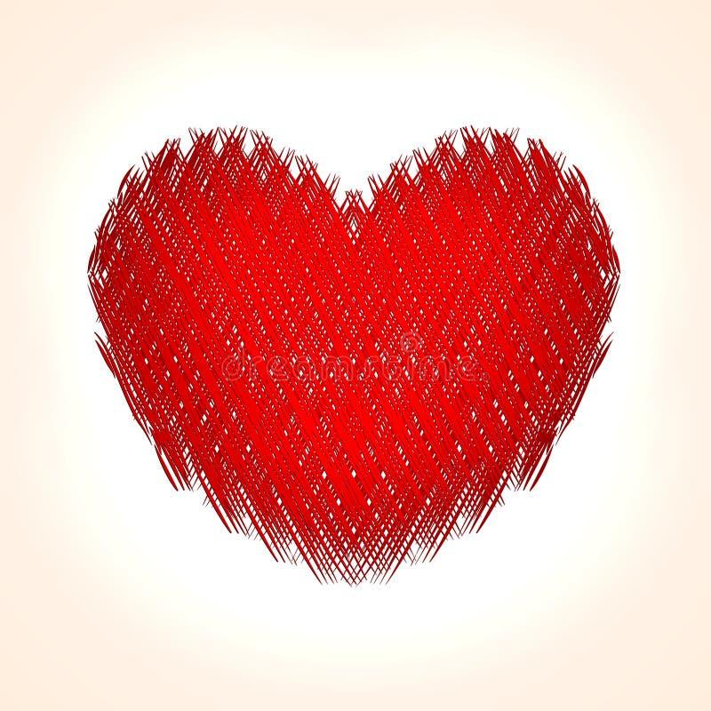 Vector abstracte hartachtergrond voor Heilige Valentine stock illustratie