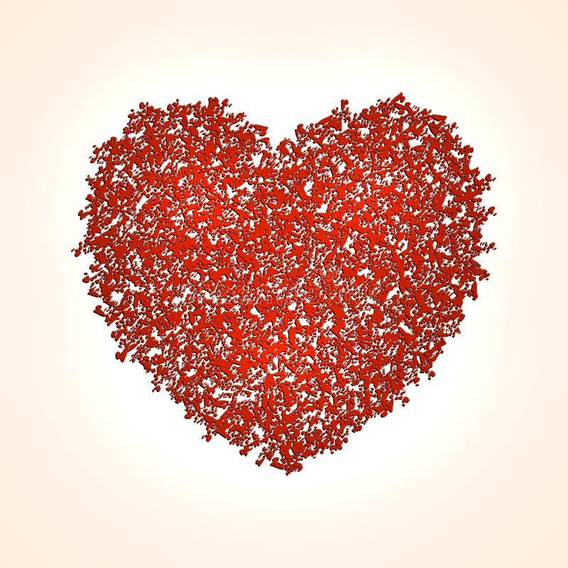 Vector abstracte hartachtergrond voor Heilige Valentine royalty-vrije illustratie