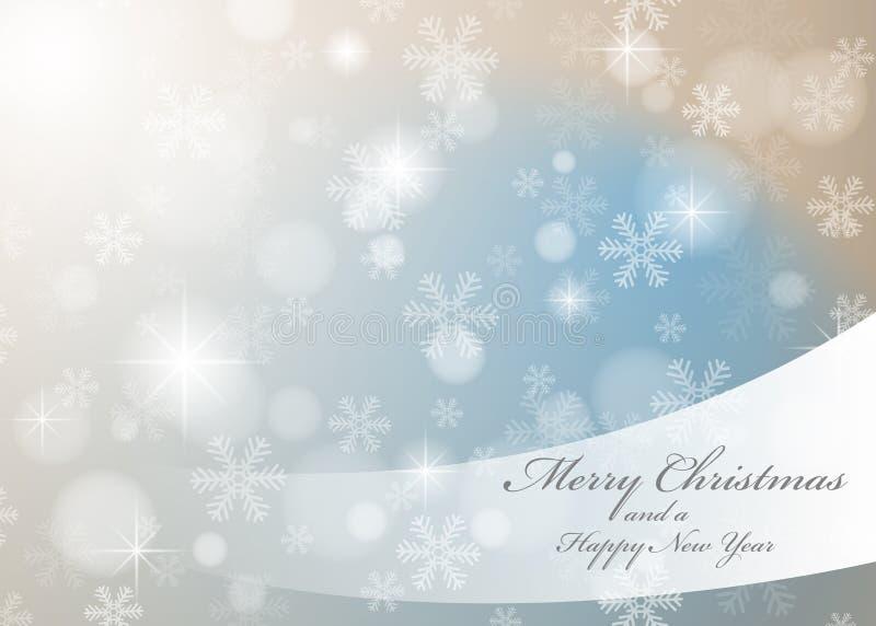 Vector Abstracte Kerstmis Als thema gehade de Winterachtergrond royalty-vrije illustratie